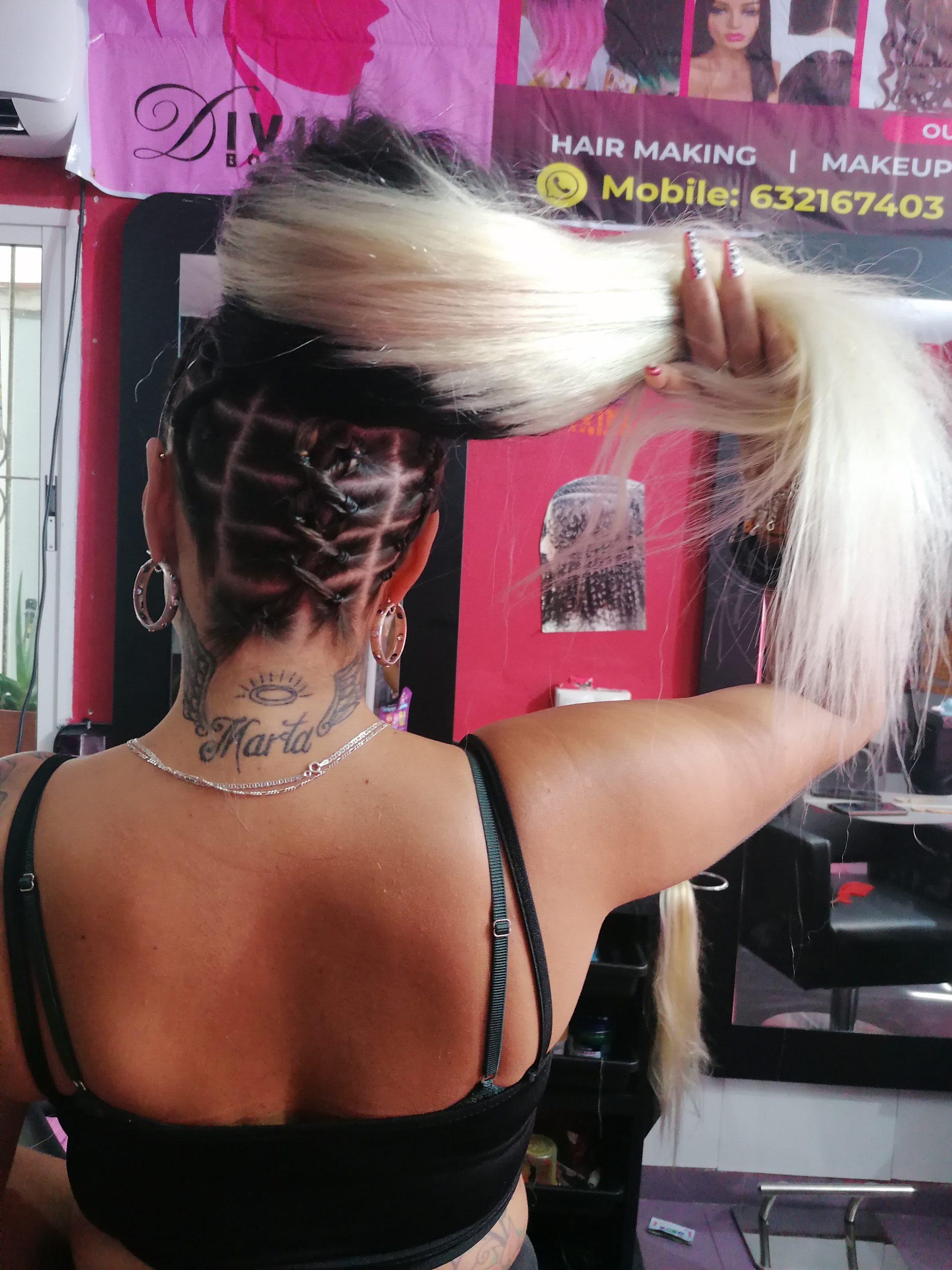 Customize Hair Weaving Peluqueria Africana Divine Malaga
